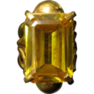 10 Karat Golden Topaz Ring in 22 K Gold