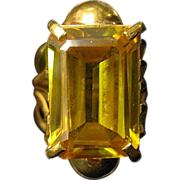 SALE 10 Karat Golden Topaz Ring in 22 K Gold