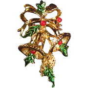 Gerry's Christmas Pin &quot;Bells and Holly&quot;