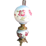 "SALE ""Gone with the Wind""  Lamp P & A Royal with hand painted shade"