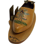 Vintage Wooden Shoe Ashtray 1945
