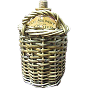 SALE The Stroud Brewery Co. Jug in Wicker Basket w/original cork