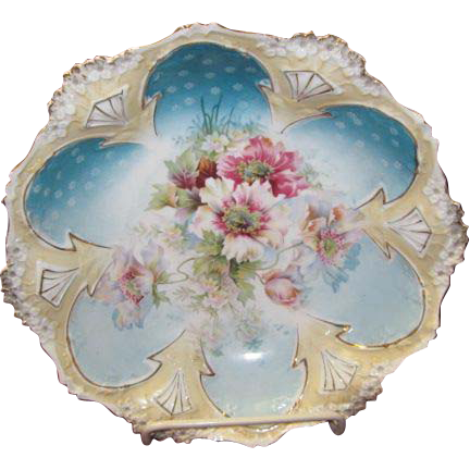 R.S.Prussia Steeple Dome Bowl 10 1/2""
