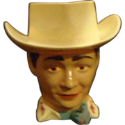 SALE Old Roy Rogers King of Cowboys F&F Figural Cup Western Actor