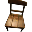 Antique Wood Inlaid Doll Chair Miniature Wonderful