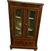 Antique French Miniature Wood Doll Wardrobe Fancy For Fashion Doll Chest Cabinet
