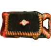 Old Miniature Doll Purse Beaded Velvet Clutch For French Fashion