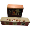 Old Miniature Tin Metal Grocery Store W/ Groceries Doll House