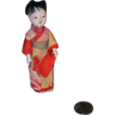 Old Miniature Oriental Egg Shell Papier Mache Doll House