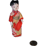 SALE Old Miniature Oriental Egg Shell Papier Mache Doll House