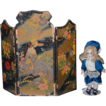 Victorian Miniature Doll Folding Screen For Doll's Wardrobe