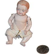 SALE Old Miniature Bisque Doll Baby Jointed Doll House