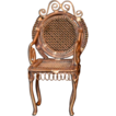 Old Ornate Miniature Metal Doll House Chair