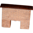 Old Wonder Brick Fireplace W/ Mantle Lighted Miniature Doll Dollhouse
