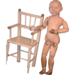 Antique Wood Chair For Doll Miniature Gorgeous Original Old Paint