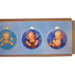 Vintage Kewpie Rose O'Neill Glass Ornaments In Old Box Unusual