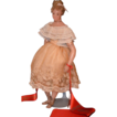 Vintage Poured Wax Doll Lady Doll Gorgeous Fancy