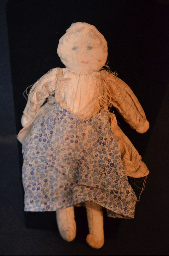 Antique Cloth Rag Doll Unusual From Oldeclectics On Ruby Lane