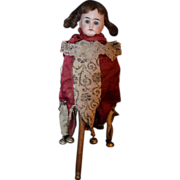 Antique Marrotte Marotte Original Clothing Bisque Doll Closed Mouth French Market