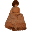 Old Miniature Cloth Doll Metal Hands and Feet Unusual
