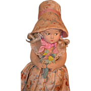 Antique Cloth Lenci Doll Felt Adorable