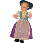 Old Lenci Cloth Doll Original Clothes Gorgeous