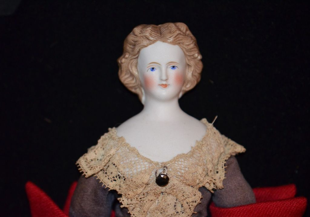 Antique Doll Parian Fab Hair Style Fab Clothing Beaded Snood 1860 39 S From Oldeclectics On Ruby Lane