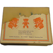 SALE Old Miniature Jointed Bears Bear In Original Box Germany Toy