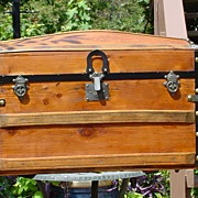 Antique Humpback Stagecoach Trunk Great Restoration