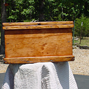 Antique Pine Primitive Tool Chest Box or Trunk   Restored