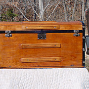 Antique Curved Top Stagecoach Trunk w/ Great Restoration