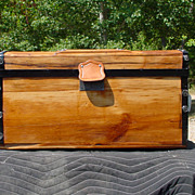 Small (Almost) Flat Top Stagecoach Trunk Great Restoration