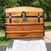 Antique Humpback Stagecoach Trunk Circa 1869 Restored