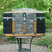 Antique Humpback Trunk with a Very Nice Restoration