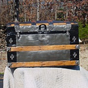 Antique Humpback Trunk With A Great Restoration