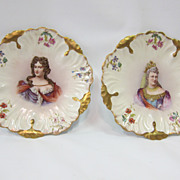 Limoges portrait plates