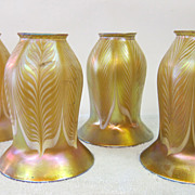 SALE PENDING Set of four (4) Quezal shades