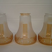 SALE PENDING Three classical Art Deco lamp shades