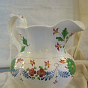 SALE Staffordshire Davenport Pitcher