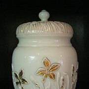 SALE 19th Century Glass Biscuit Jar