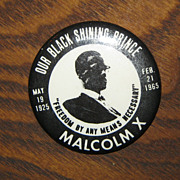 SALE Malcolm X Memorial Button