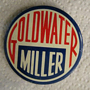 Goldwater Miller Campaign Button, 1964