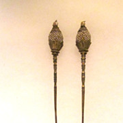 Chinese Hair Sticks With Pearls, 19th Century