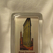 Glass Advertising Paper Weight, Great American Insurance Company