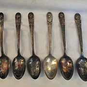 31 Presidents Spoons manufactured by W. M. Rogers