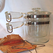 PYREX Flameware Double Boiler with Heat Spreader