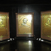 Baseball Legends 24KT Embossed Card in Lucite Frame  (3-Card Collection)
