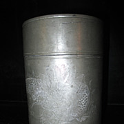 Antique Pewter Spice Caddy made by Kut Hing, Swatow, China, circa 1900