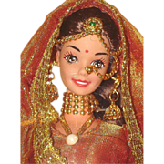 Elaborate Wedding Fantasy Barbie Doll Foreign Issue India MIB!