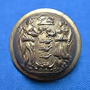 New Jersey State Seal Brass Uniform Button Civil War Period Small Scovill Mark